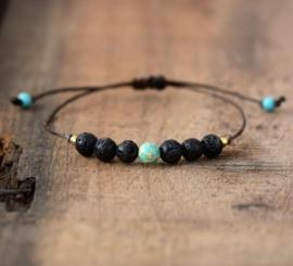 Natuurlijke Lavasteen Boho Bracelet