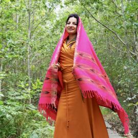 Bali Sjaal Omslagdoek Fucsia