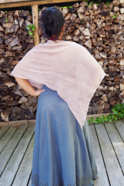 Poncho Short hennep Taupe