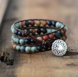 "Handgemaakte ""LOVE"" Leather Wrap Bracelet"