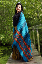 Carma Sjaal Blauw/ Turquoise