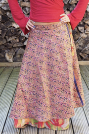 Bohemian Goddess Silk Skirt 129