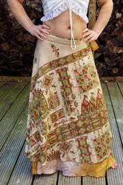 Bohemian Goddess Silk Skirt 317
