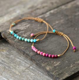 Natuurlijke Jasper Stone Bracelet Pink