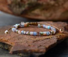 Handgemaakte Natural Crystal Bead Friendship Bracelet