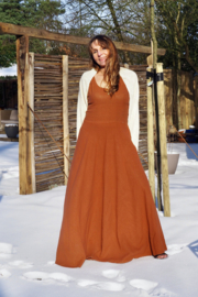 Hera Dress Rust Bruin