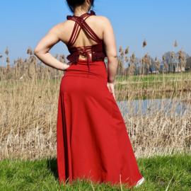 Luna Long skirt Rood
