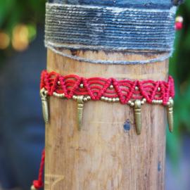 Anklet Fama red