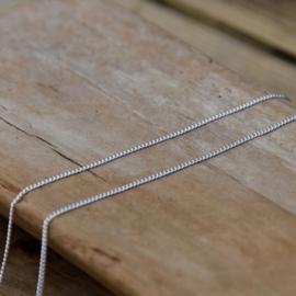 Zilveren Ketting Rond 40/45/ 50/55/ 60/65  cm.