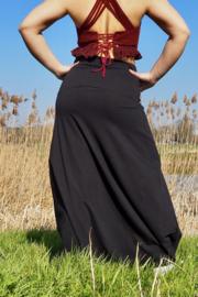 Luna Long skirt Zwart