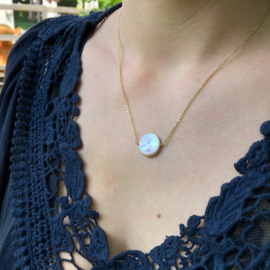 Gold Plated Parelmoer ketting