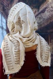 Hoodie Block Print Sjaal