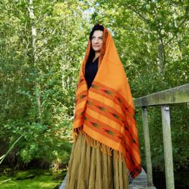 Bali Sjaal Omslagdoek Oranje