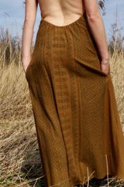 Aztec Long Dress Bruin