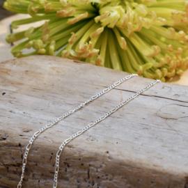 Zilveren Ketting Schakel 36/43  cm.