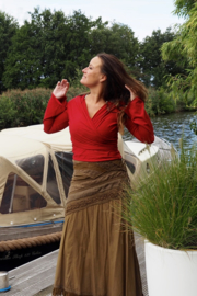 Ishtar Top Bamboo/Cotton Rood