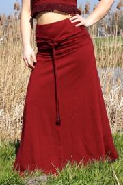 Luna Long skirt Marroonrood