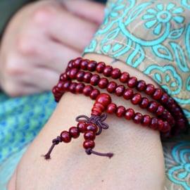 Tibetan red Mala 6 mm.