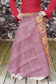 Bohemian Goddess Silk Skirt 146