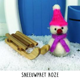 Sneeuwpret roze