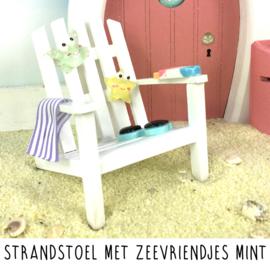 Strandstoel met zeevriendjes mint