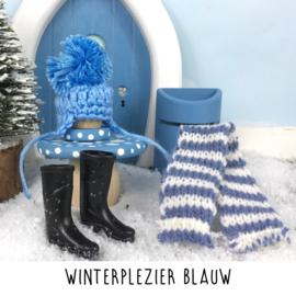 Winterplezier blauw