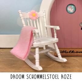 Droom schommelstoel roze
