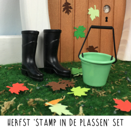Herfst 'stamp in de plassen' set