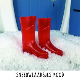 Sneeuwlaarsjes rood
