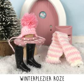 Winterplezier roze