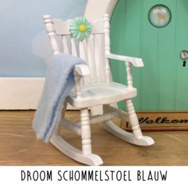 Droom schommelstoel blauw