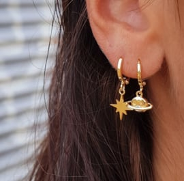 EARRING - SATURN - SILVER
