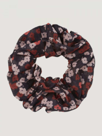 SCRUNCHIE - FIELD FLOWERS - BROWN
