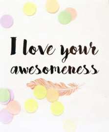 CONFETTI POSTCARD - LOVE AWESOMENESS