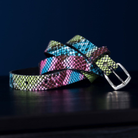 LEATHER BELT - SNAKE MULTI COLOR