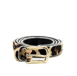 LEREN DAMES RIEM - LEOPARD SMALL - GOLD