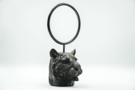 MIRROR LION HEAD - BLACK