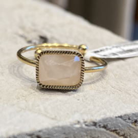 ZAG - RING EDELSTEEN ROSE QUARTZ - GOUD