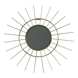 METAL SUN MIRROR GOLD 43X43X1,5