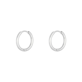 EARRING - LITTLE HOOPS  - SILVER