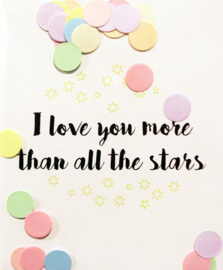CONFETTI POSTCARD - I LOVE YOU