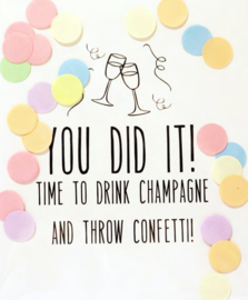CONFETTI POSTCARD - YOU DIT IT!