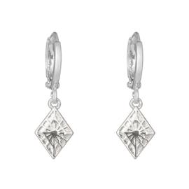 EARRING - LOVELY DIAMOND - SILVER