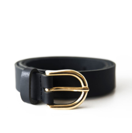 LEREN DAMES RIEM - BLACK - GOLD