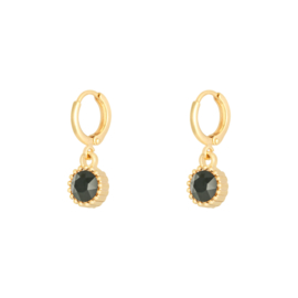EARRING - PRECIOUS CUT - GOLD BLACK