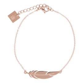 ZAG BIJOUX - BRACELET FEATHER - ROSÉ