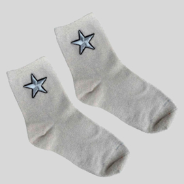 SOCKS - STAR - SILVER