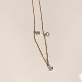 ZAG BIJOUX - NECKLACE 3 STONE - GOLD