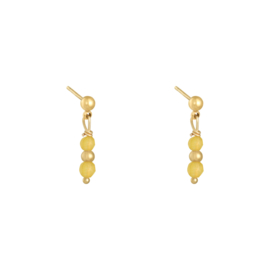 EARRING - IN A ROW YELLOW - GOLD