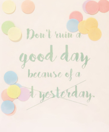 CONFETTI POSTCARD - DON'T RUIN A GOOD DAY